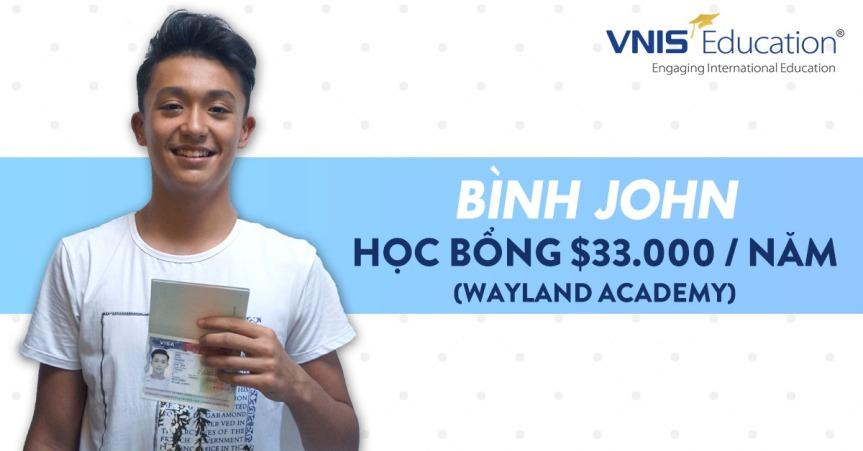 Bình John – Học sinh mới nhất đạt visa Mỹ củatớ!