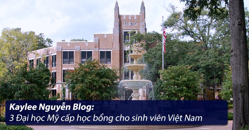 3 Đại học Mỹ cấp học bổng cho sinh viên ViệtNam